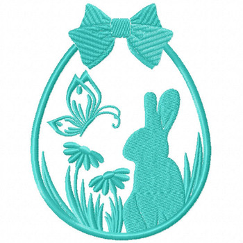 Silhouette Easter Design #01 Machine Embroidery Design