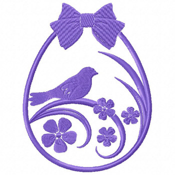 Silhouette Easter Design #04 Machine Embroidery Design
