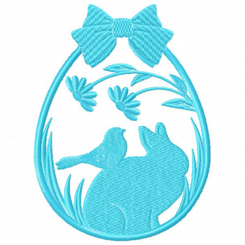Silhouette Easter Design #05 Machine Embroidery Design