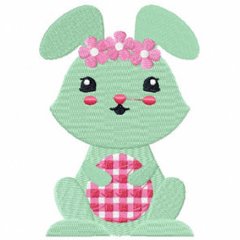 Easter Bunnies Collection #03 Machine Embroidery Design