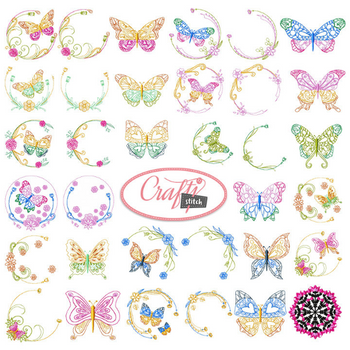 4x4 Hoop Flower Special - 65 Floral Machine Embroidery Designs!