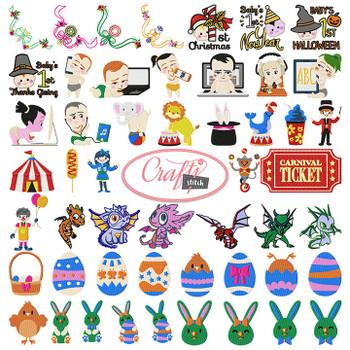 4x4 Hoop Kids Special - 110 Kids Machine Embroidery Designs!
