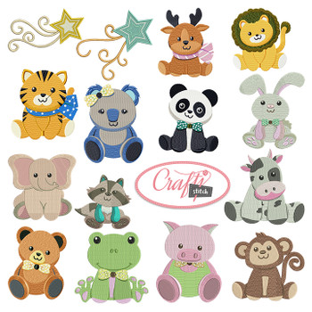 4x4 Hoop Kids Special - 110 Kids Machine Embroidery Designs!