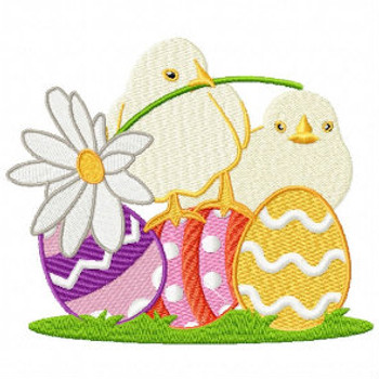 Egg Hunting Eggs  - Easter Egg Collection #02 Machine Embroidery Design