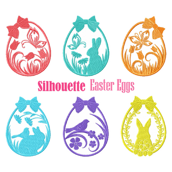 Machine Embroidery Designs - Silhouette Easter Collection of 6