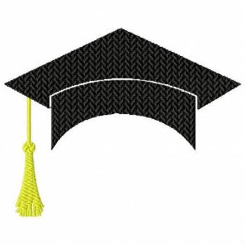 Graduation Cap Monogram Frame Collection #06 Machine Embroidery Design