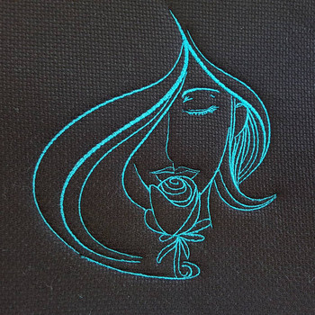 Rose Modern Ladies #1 Machine Embroidery Design