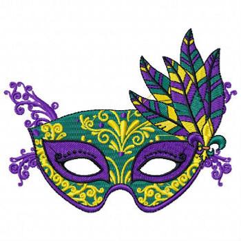 Masquerade Masks - Mardi Gras Easter Collection #06 Machine Embroidery Design