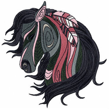 Detailed Horses Collection #01 Machine Embroidery Design