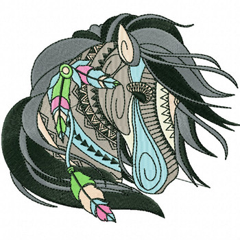 Detailed Horses Collection #03 Machine Embroidery Design