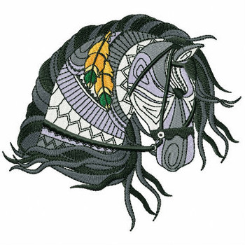 Detailed Horses Collection #04 Machine Embroidery Design