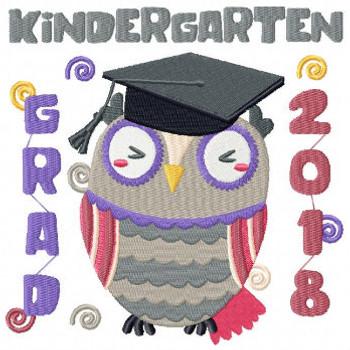 Owl Kindergarten Typography Collection #01 Machine Embroidery Design