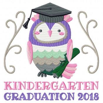 Owl Kindergarten Typography Collection #03 Machine Embroidery Design