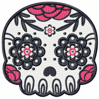 Sugar Skull Collection #01 Machine Embroidery Design