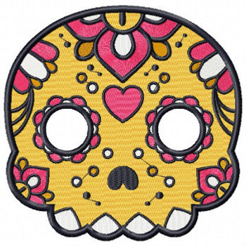 Sugar Skull Collection #02 Machine Embroidery Design