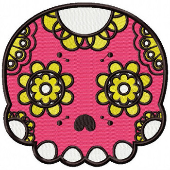 Sugar Skull Collection #03 Machine Embroidery Design