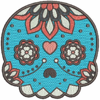Sugar Skull Collection #04 Machine Embroidery Design