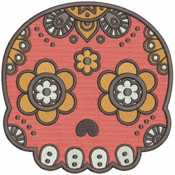 Sugar Skull Collection #05 Machine Embroidery Design