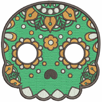 Sugar Skull Collection #06 Machine Embroidery Design