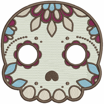 Sugar Skull Collection #07 Machine Embroidery Design