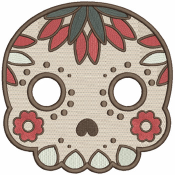Sugar Skull Collection #08 Machine Embroidery Design