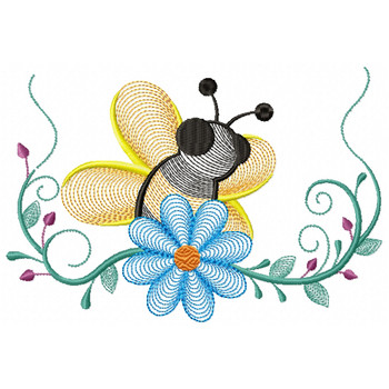 Bees And Flowers 01