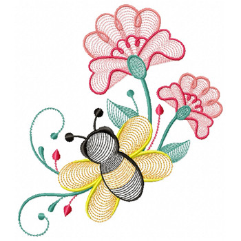 Bees And Flowers 04