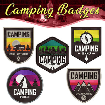Camping Badges Full Collection