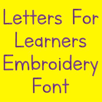 Machine Embroidery Font - Comfortaa-Regular Embroidery
