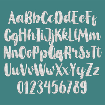 Mahoni Embroidery Font_FullAlpha