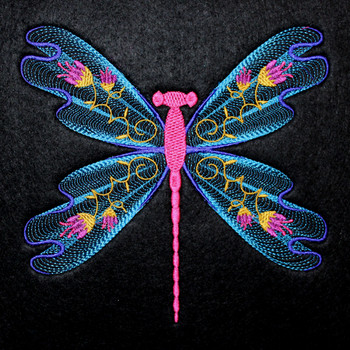 Dragonfly #01 Machine Embroidery Design