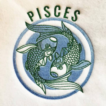 Pisces - Zodiac Collection #02 Machine Embroidery Design