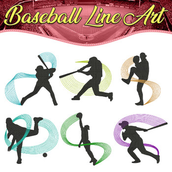 Baseball Line Art Full Collection