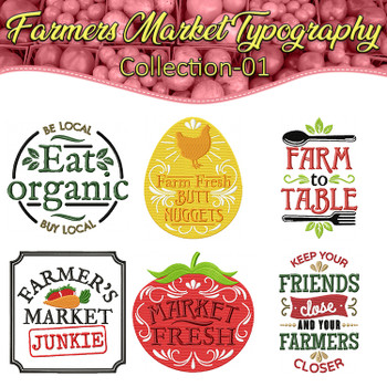 Farmers Market Typography Full Collection 01