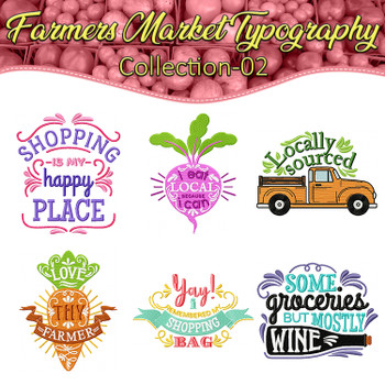 Farmers Market Typography Full Collection 02