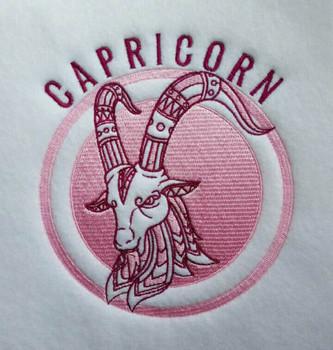 Capricorn - Zodiac Collection #07 Machine Embroidery Design