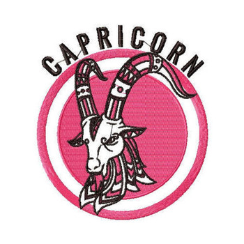 Capricorn - Zodiac Collection #07 Machine Embroidery Design