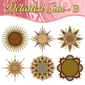 Detailed Sun Full Collection B