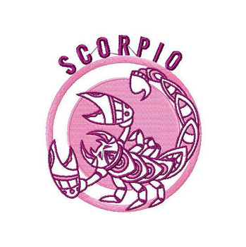 Scorpio - Zodiac Collection #10 Machine Embroidery Design
