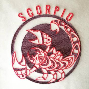 Scorpio - Zodiac Collection #10 Machine Embroidery Design