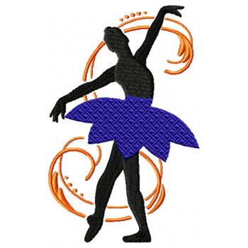 Silhouette Ballet Dancers #02