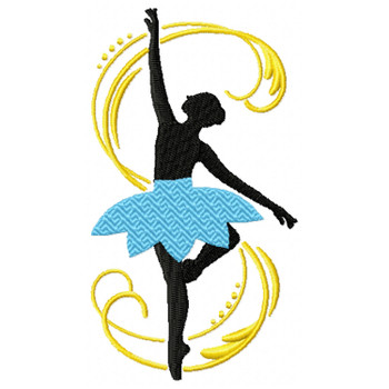 Silhouette Ballet Dancers #03
