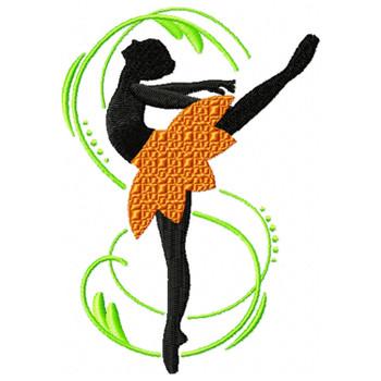 Silhouette Ballet Dancers 06