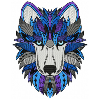 Detailed Wolf Face A