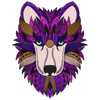 Detailed Wolf Face B