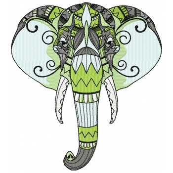 Detailed Elephant Face B