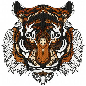 Detailed Tiger Face A