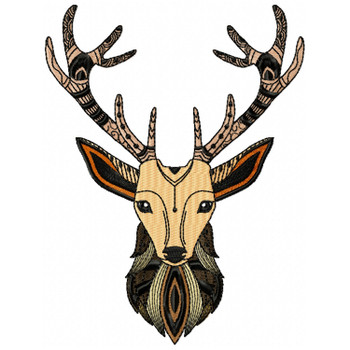 Detailed Deer Face A