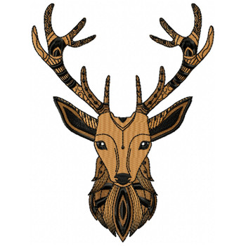 Detailed Deer Face B