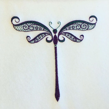 Ornamental Dragonfly - Ornament Animal Collection #22 Machine Embroidery Design